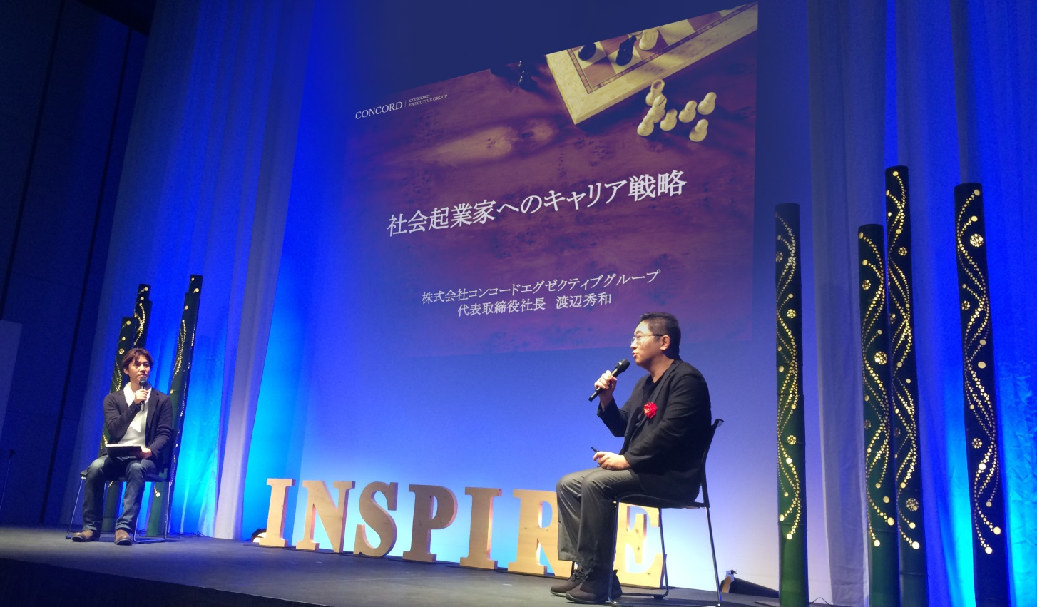 INSPIRE2017に登壇するコンコード渡辺