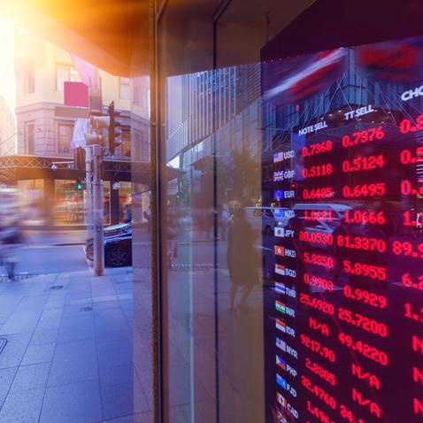Bank exchange rate display